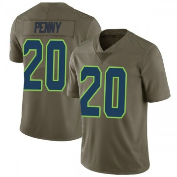 Youth Nike Seattle Seahawks Rashaad Penny Green 2017 Salute to Service Jersey - Limited