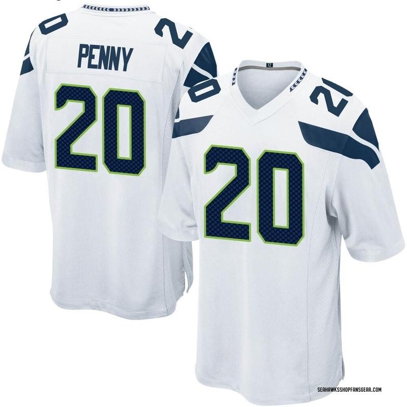 quality design 383e3 0a69c Youth Nike Seattle Seahawks Rashaad Penny White Jersey - Game