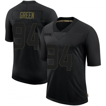 Youth Nike Seattle Seahawks Rasheem Green Black 2020 Salute To Service Jersey - Limited