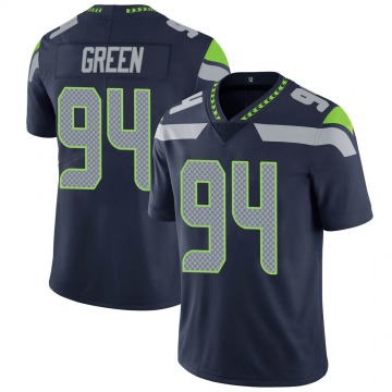 Youth Nike Seattle Seahawks Rasheem Green Green Navy Team Color Vapor Untouchable Jersey - Limited