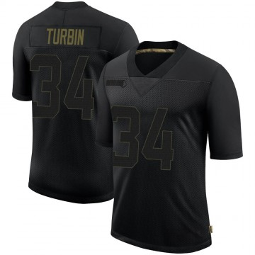 Youth Nike Seattle Seahawks Robert Turbin Black 2020 Salute To Service Jersey - Limited