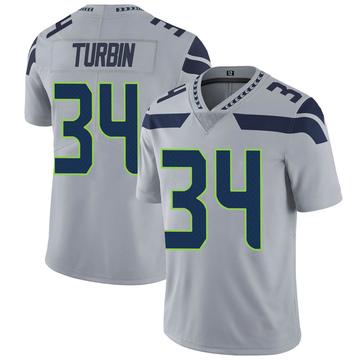 Youth Nike Seattle Seahawks Robert Turbin Gray Alternate Vapor Untouchable Jersey - Limited