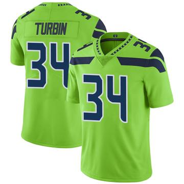 Youth Nike Seattle Seahawks Robert Turbin Green Color Rush Neon Jersey - Limited