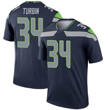 Youth Nike Seattle Seahawks Robert Turbin Navy Jersey - Legend