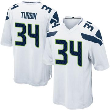 Youth Nike Seattle Seahawks Robert Turbin White Jersey - Game