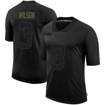 Youth Nike Seattle Seahawks Russell Wilson Black 2020 Salute To Service Jersey - Limited
