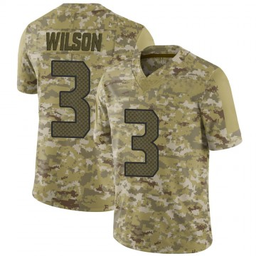 Youth Nike Seattle Seahawks Russell Wilson Camo 2018 Salute to Service Jersey - Limited