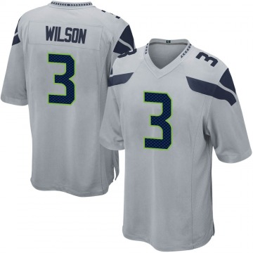 Youth Nike Seattle Seahawks Russell Wilson Gray Alternate Jersey - Game