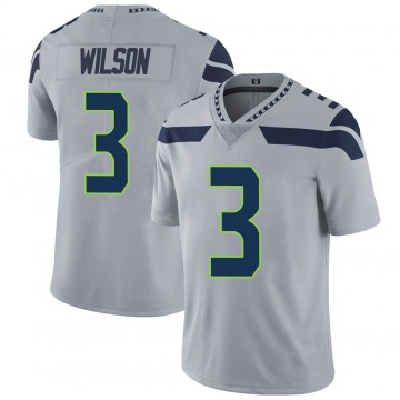 Youth Nike Seattle Seahawks Russell Wilson Gray Alternate Vapor Untouchable Jersey - Limited