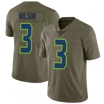 Youth Nike Seattle Seahawks Russell Wilson Green 2017 Salute to Service Jersey - Limited