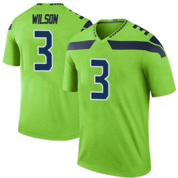 Youth Nike Seattle Seahawks Russell Wilson Green Color Rush Neon Jersey - Legend