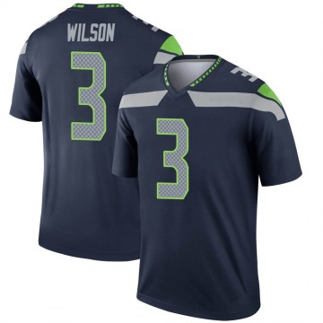 Youth Nike Seattle Seahawks Russell Wilson Navy Jersey - Legend