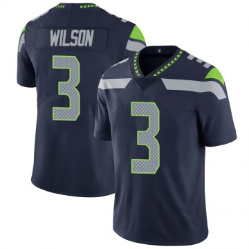 Youth Nike Seattle Seahawks Russell Wilson Navy Team Color Vapor Untouchable Jersey - Limited