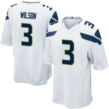 Youth Nike Seattle Seahawks Russell Wilson White Jersey - Game