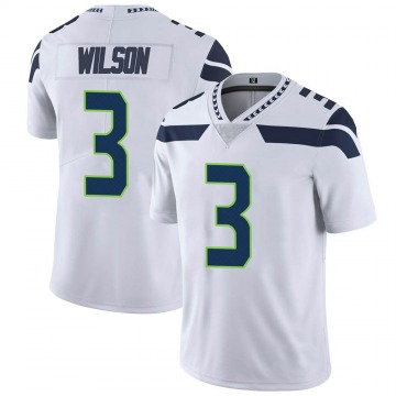 Youth Nike Seattle Seahawks Russell Wilson White Vapor Untouchable Jersey - Limited