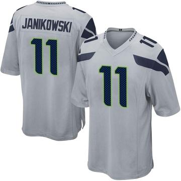Youth Nike Seattle Seahawks Sebastian Janikowski Gray Alternate Jersey - Game
