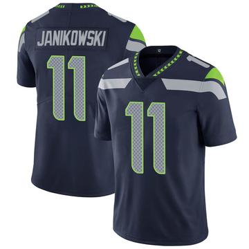Youth Nike Seattle Seahawks Sebastian Janikowski Navy 100th Vapor Jersey - Limited