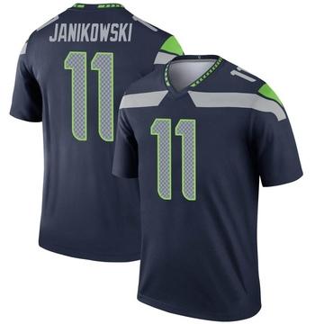 Youth Nike Seattle Seahawks Sebastian Janikowski Navy Jersey - Legend