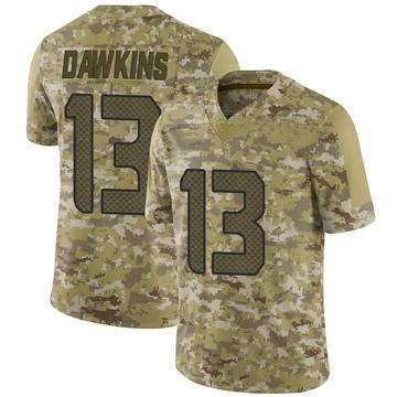 Youth Nike Seattle Seahawks Seth Dawkins Camo 2018 Salute to Service Jersey - Limited