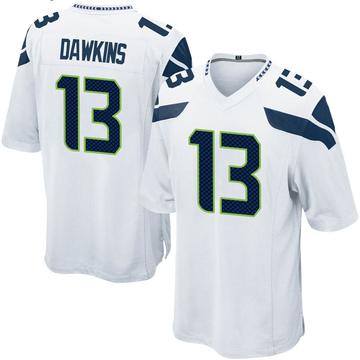 Youth Nike Seattle Seahawks Seth Dawkins White Jersey - Game