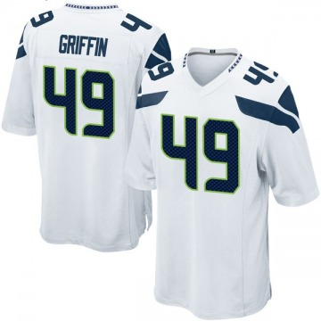 Youth Nike Seattle Seahawks Shaquem Griffin White Jersey - Game