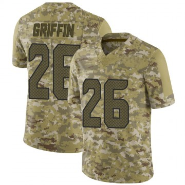Youth Nike Seattle Seahawks Shaquill Griffin Camo 2018 Salute to Service Jersey - Limited