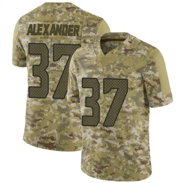 Youth Nike Seattle Seahawks Shaun Alexander Camo 2018 Salute to Service Jersey - Limited