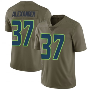 Youth Nike Seattle Seahawks Shaun Alexander Green 2017 Salute to Service Jersey - Limited