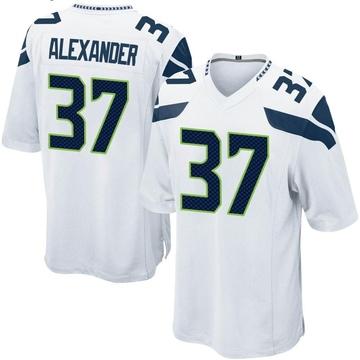 Youth Nike Seattle Seahawks Shaun Alexander White Jersey - Game