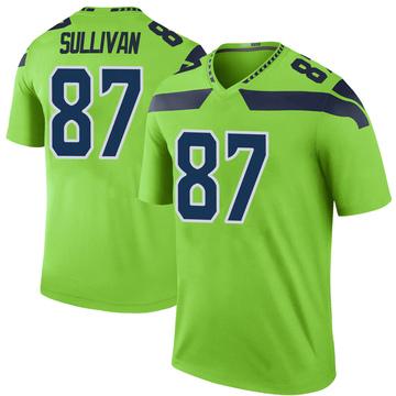 Youth Nike Seattle Seahawks Stephen Sullivan Green Color Rush Neon Jersey - Legend