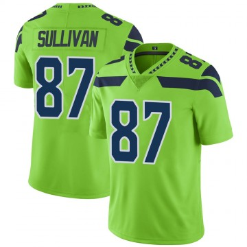 Youth Nike Seattle Seahawks Stephen Sullivan Green Color Rush Neon Jersey - Limited