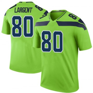 Youth Nike Seattle Seahawks Steve Largent Green Color Rush Neon Jersey - Legend