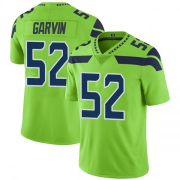 Youth Nike Seattle Seahawks Terence Garvin Green Color Rush Neon Jersey - Limited
