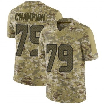 Youth Nike Seattle Seahawks Tommy Champion Camo 2018 Salute to Service Jersey - Limited