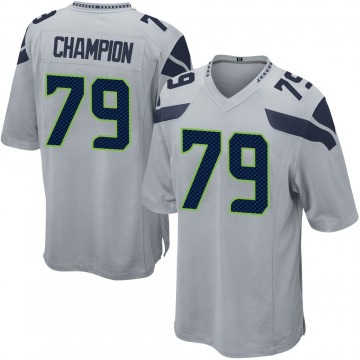 Youth Nike Seattle Seahawks Tommy Champion Gray Alternate Jersey - Game