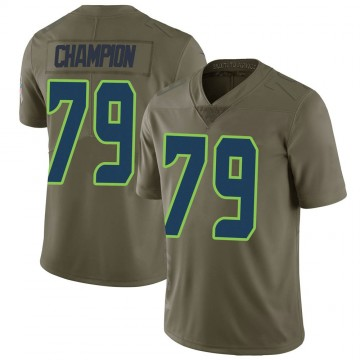 Youth Nike Seattle Seahawks Tommy Champion Green 2017 Salute to Service Jersey - Limited