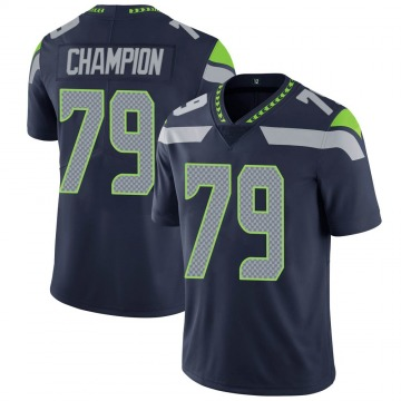 Youth Nike Seattle Seahawks Tommy Champion Navy 100th Vapor Jersey - Limited