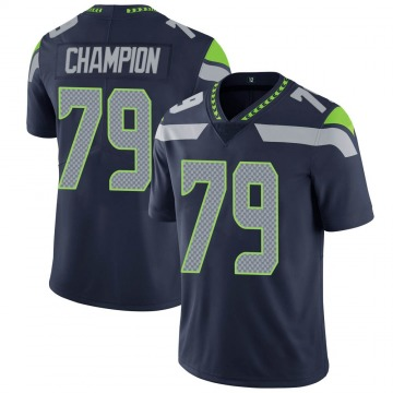 Youth Nike Seattle Seahawks Tommy Champion Navy Team Color Vapor Untouchable Jersey - Limited