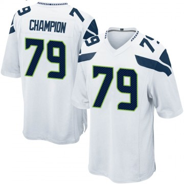 Youth Nike Seattle Seahawks Tommy Champion White Jersey - Game