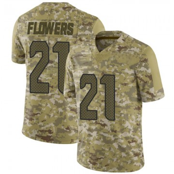 Youth Nike Seattle Seahawks Tre Flowers Camo 2018 Salute to Service Jersey - Limited
