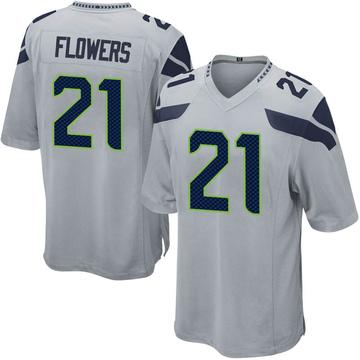 Youth Nike Seattle Seahawks Tre Flowers Gray Alternate Jersey - Game