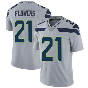 Youth Nike Seattle Seahawks Tre Flowers Gray Alternate Vapor Untouchable Jersey - Limited