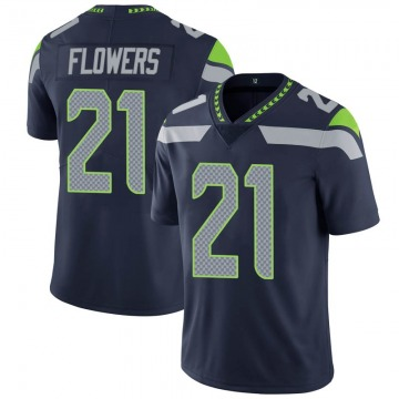 Youth Nike Seattle Seahawks Tre Flowers Navy Team Color Vapor Untouchable Jersey - Limited