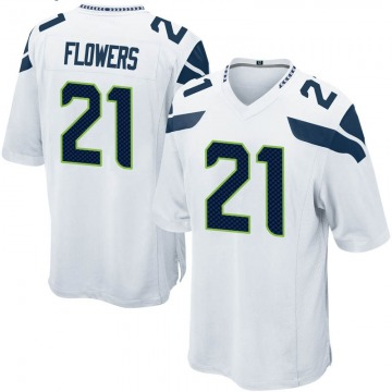 Youth Nike Seattle Seahawks Tre Flowers White Jersey - Game
