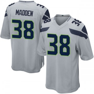 Youth Nike Seattle Seahawks Tre Madden Gray Alternate Jersey - Game