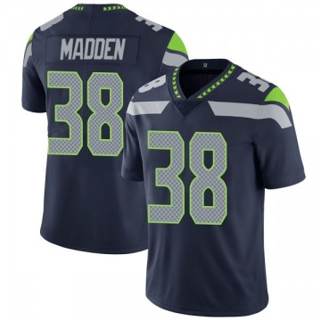 Youth Nike Seattle Seahawks Tre Madden Navy Team Color Vapor Untouchable Jersey - Limited