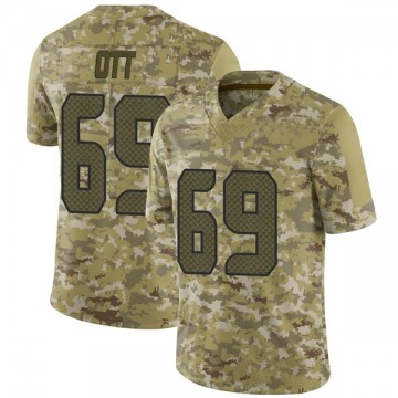 Youth Nike Seattle Seahawks Tyler Ott Camo 2018 Salute to Service Jersey - Limited