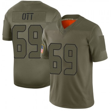 Youth Nike Seattle Seahawks Tyler Ott Camo 2019 Salute to Service Jersey - Limited