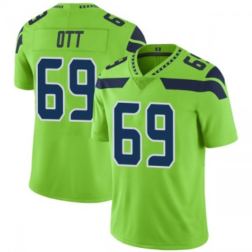 Youth Nike Seattle Seahawks Tyler Ott Green Color Rush Neon Jersey - Limited