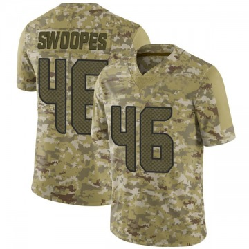 Youth Nike Seattle Seahawks Tyrone Swoopes Camo 2018 Salute to Service Jersey - Limited